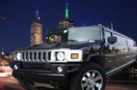1300 Limo Now Chrysler stretch limousine driving the streets of Melbourne whilst for hire for a school formal